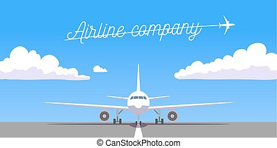 Vector airplane Icon - airline company banner Icon