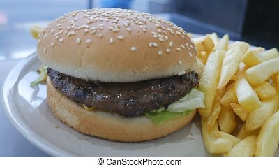 Fast food. Burger meal. - London. England. United Kingdom....