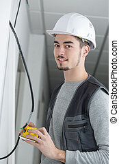 Portrait of young tradesman
