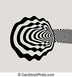 Pattern With Optical Illusion. Abstract Background. Optical...