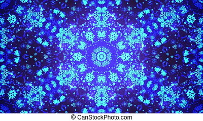 Kaleidoscope VJ loop Background. Full HD