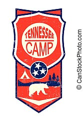 Tennessee Camp Vintage sign - A vintage label of Tennessee...