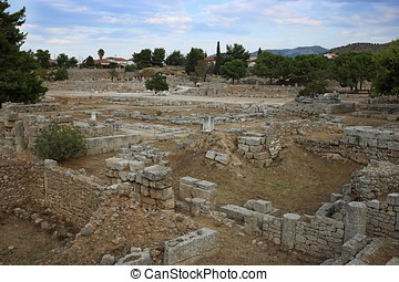 Ruins in Corinth, Greece - archaeological site
