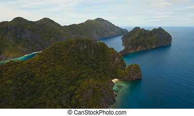 Tropical island, aerial view. El Nido