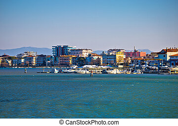 Town of Grado tourist seafront view, Friuli-Venezia Giulia...