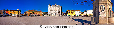 Central square in Palmanova panoramic view, Friuli-Venezia...