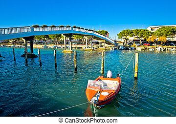 Town of Grado channel and bridge view, Friuli-Venezia Giulia...