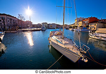 Town of Grado waterfront view, Friuli-Venezia Giulia region...