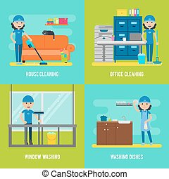Cleaning Company Flat Composition - Cleaning company flat...