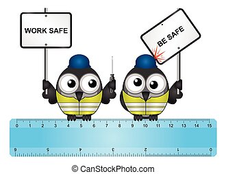 Construction work safe be safe message - Comical...