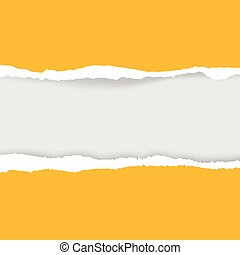 ripped paper and transparent background with space.