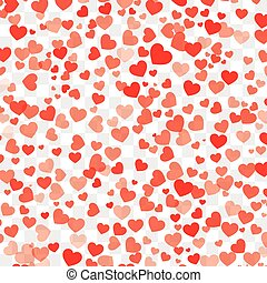 Valentine background with hearts on transparent