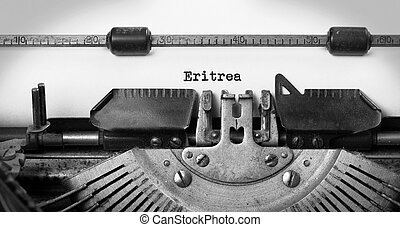 Old typewriter - Eritrea - Inscription made by vinrage...
