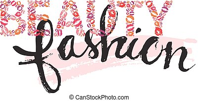 Beauty and fashion lettering