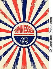 Tennessee retro sunbeams poster - A vintage Tennessee poster...