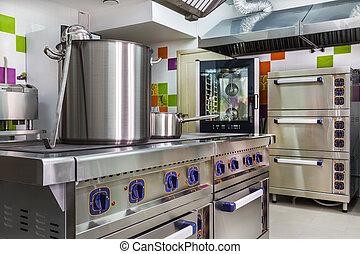 kitchen interior in child care - Kindergarten. Kitchen for...