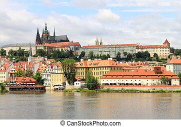Prague Castle - Landscape view of Prague Castle, Czech...