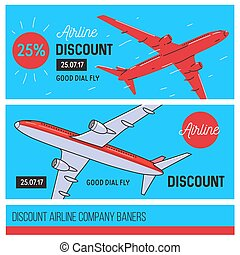 airline company banners
