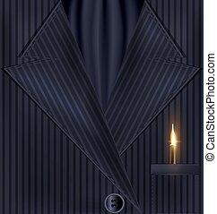 dark background suit and golden pen