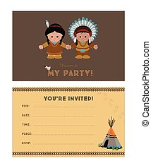 Invitation to party, American Indians