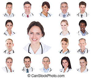Collage Of Smiling Doctors