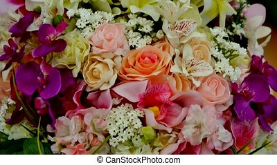 beautiful bouquet of colorful spring flowers