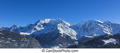 Mont Blanc Massif - North image of Mont Blanc Massif with...