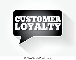 Customer Loyalty text message bubble