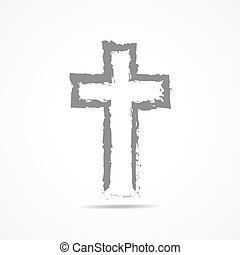 Abstract Christian cross icon. Vector illustration. -...