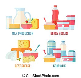 Traditional Dairy Products from Milk - Different traditional...