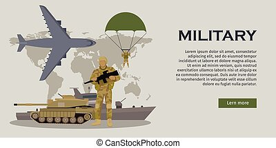 Armed Forces Vector Concept in Flat Design