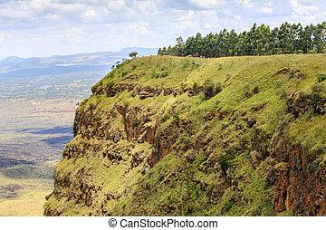 Beautiful landscape of Menengai Crater, Nakuru, Kenya, East...