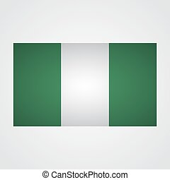 Nigeria flag on a gray background. Vector illustration