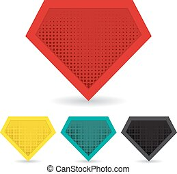 Set of superhero logo template. Vector, isolated, eps10.