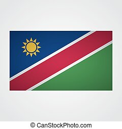 Namibia flag on a gray background. Vector illustration