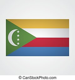 Comoros flag on a gray background. Vector illustration