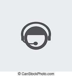 Support icon in a flat design in black color. Vector...