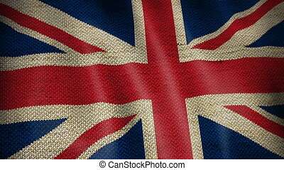 Burlap Flag of British.