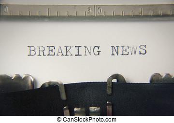 Typewriter macro breaking news