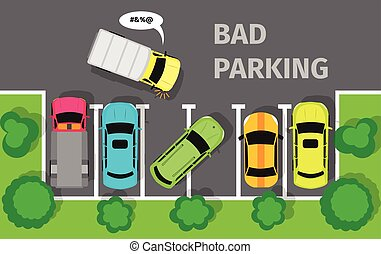 Bad Parking Top View