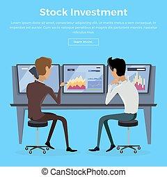 Modern Online Trading Technology Illustration. - Modern...