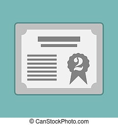 Prize silver certificat for 2st. Vector illustration eps10