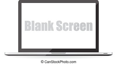 Blank screen of laptop. Vector illustration EPS10