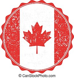 Canada flag stamp with grunge. Vector illustration