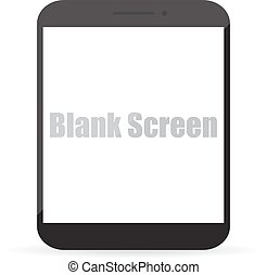 Blank screen of computer tablet. Vector illustration EPS10