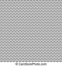 Zigzag seamless pattern background in black on a white...