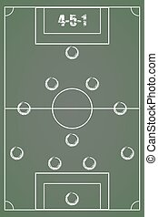 Board to outline a strategy for soccer. 4-5-1