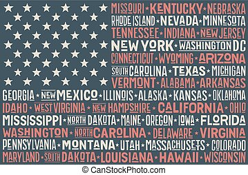 United States of America flag - Poster of United States of...
