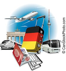 ravel to germany - concept illustration of tour and travel...