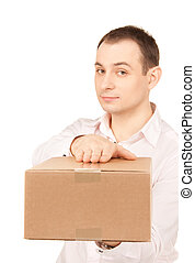 businessman with parcel - picture of businessman with parcel...